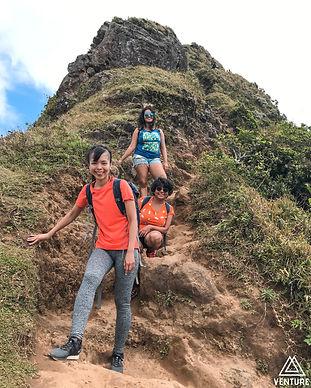 Hiking Le Pouce with Gargi, Sam and Zuan