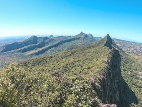 Climbing Junction Peak in Mauritius