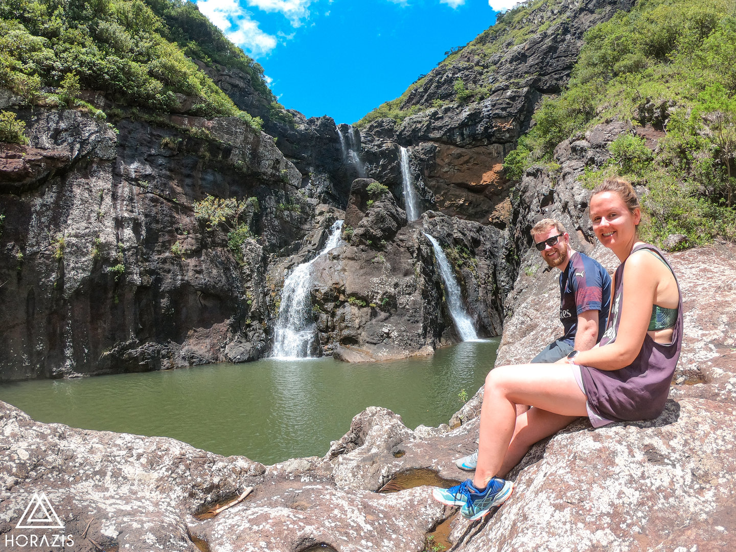 Hiking Tamarind Falls with Alexander & G