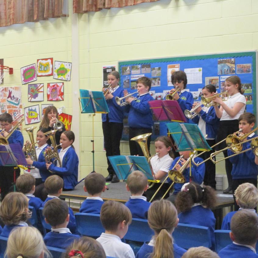 Christingle - Year 6 playing Brass