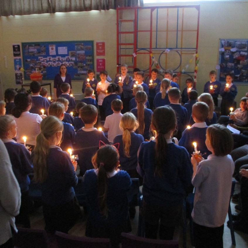 Christingle - singing Away in a Manger