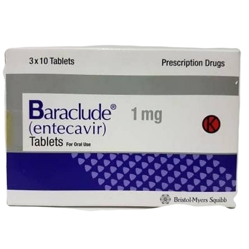 Baraclude 1mg, caixa com 30 comprimidos revestidos