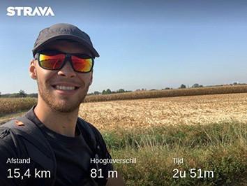 Dodentocht training: 15 km op blote voeten.