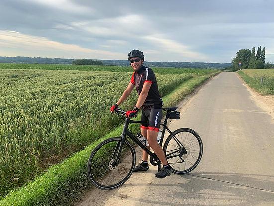 Daimy Vermeersch op de fiets
