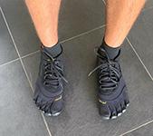 Voor- en nadelen aan Vibram FiveFingers schoenen.
