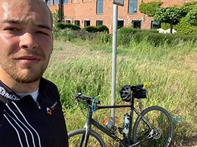 Eerste 100 kilometer fietsen.