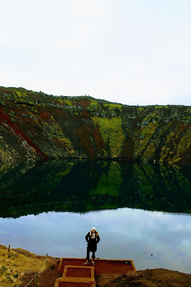 Crater south Iceland
