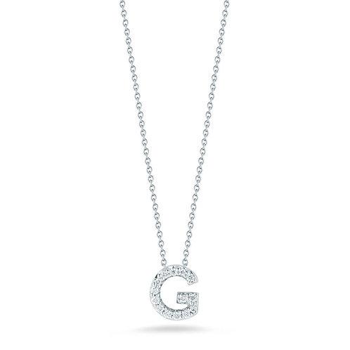 """Roberto Coin Dije de inicial """"G"""" con brillante Love Letter Tiny Treasures"""