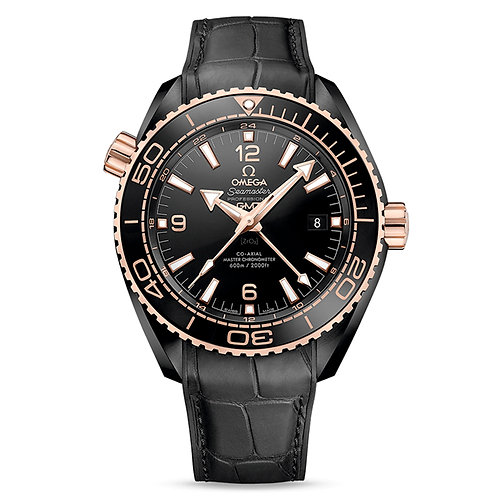 "Omega Planet Ocean ""Deep Black"" 600M Co‑Axial Master Chronometer GMT 45,5 mm"