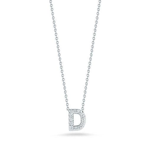 """Roberto Coin Dije de inicial """"D"""" con brillante Love Letter Tiny Treasures"""