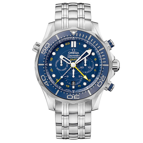 Omega Seamaster Diver 300M Co‑Axial GMT Chronograph 44 mm