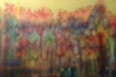 Tulpen in fluid-acrylic-technic 120x80cm auf Leinwand