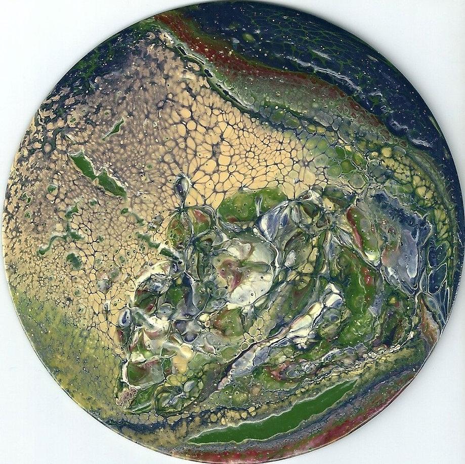 Stein in fluid-acrylic-technic 12cm auf CD
