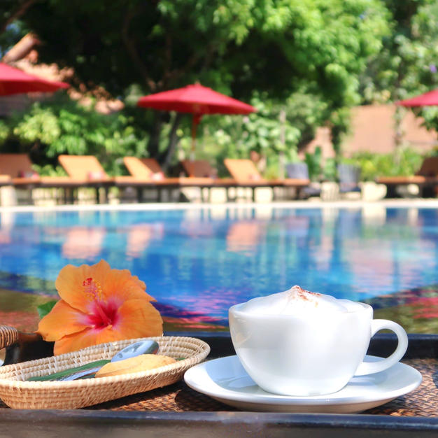 Or just relax by the pool and have a coffee ;)