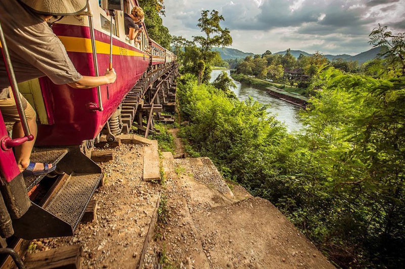 Death railway Kanchanaburi Thailand