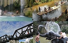 River Kwai bridge, Erawan falls