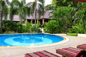 Lovely swimming pool at the Oriental Kwai resort