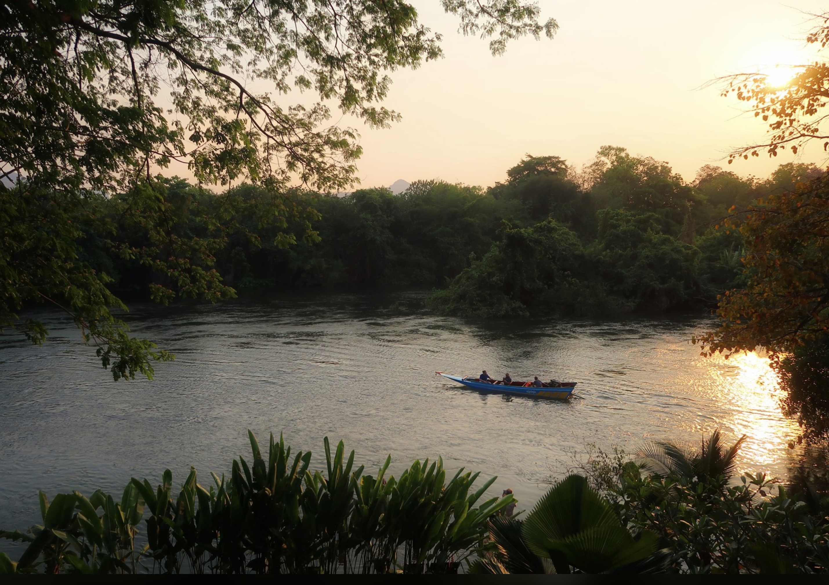 beautiful view over the river kwai Kanchanaburi