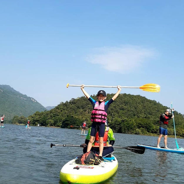 Get active and make a tour with SUP Kanchanaburi, also great for youngsters!