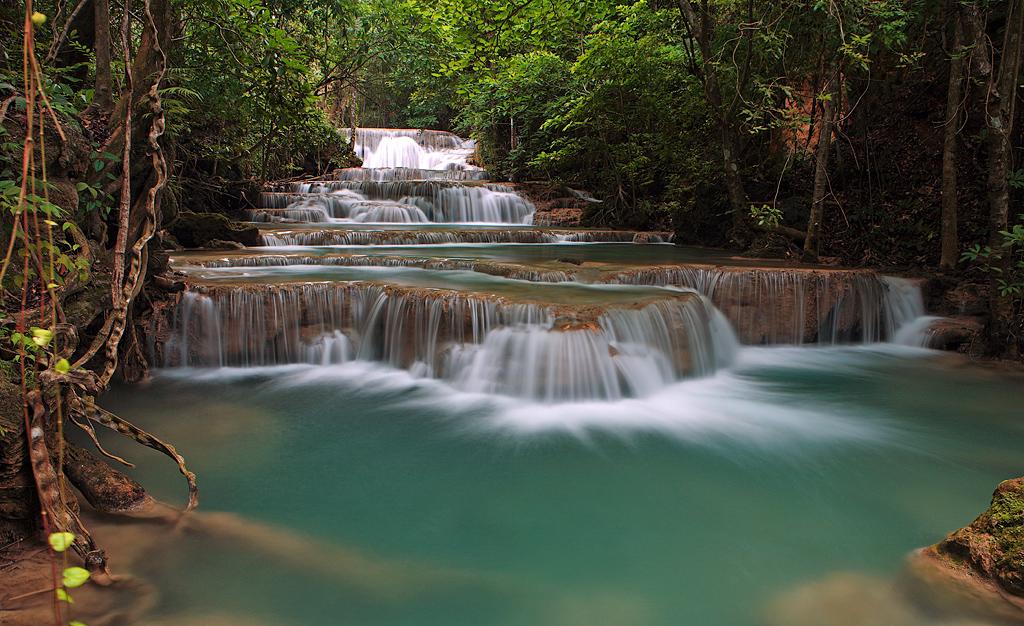 Maekamin waterfalls Kanchanaburi