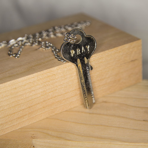 PRAY Key Necklace