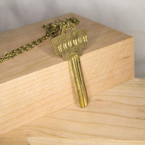 ENOUGH Key Necklace