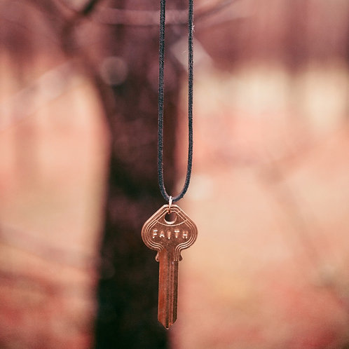 Leather Cord Key Necklaces