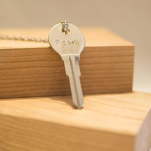 BRAVE Key Necklace