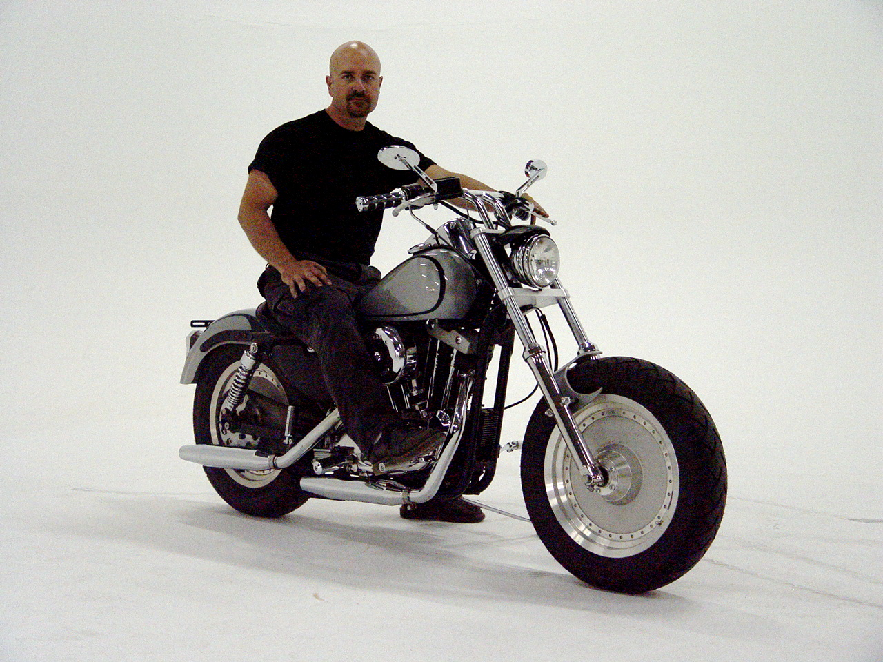 Studio rider reference shot
