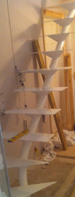 Fabricated Spiral Metal Staircase