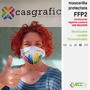 eco by casgrafic mascarillas FFP2 lavabl