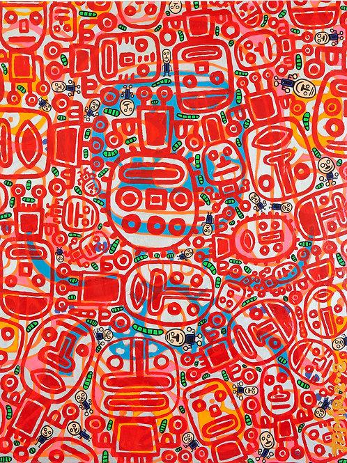 Red Figures 100/130cm