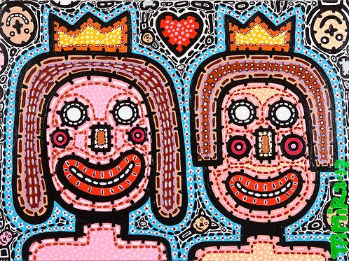 King & Queen 80/60cm