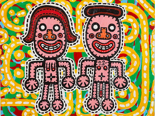 Couple Cutout 60/50cm
