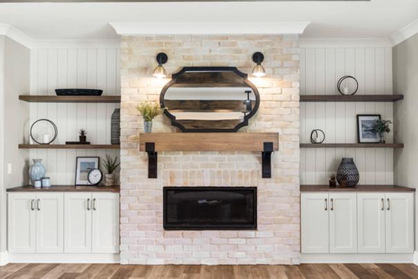 Custom Built-Ins & Fireplace
