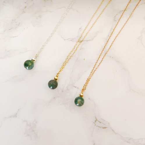 Harmonize your mind/body/soul: Moss Agate Necklace