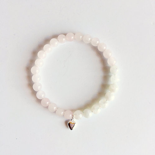 Fertility/Pregnancy/Labor Support: Moonstone & Rose Quartz Bracelet
