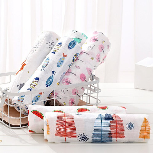 Printed Cotton Baby Swaddles