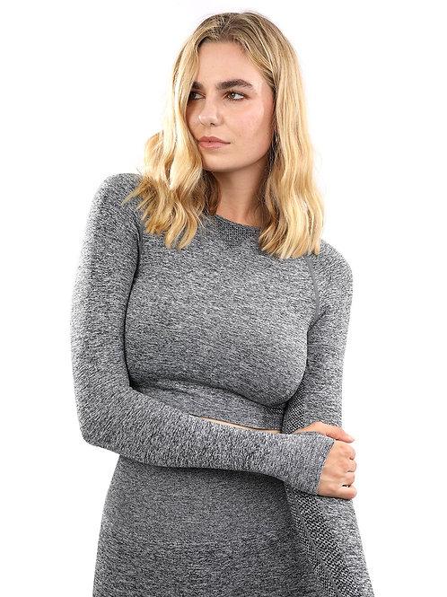 Cadrina Seamless Sports Top - Grey