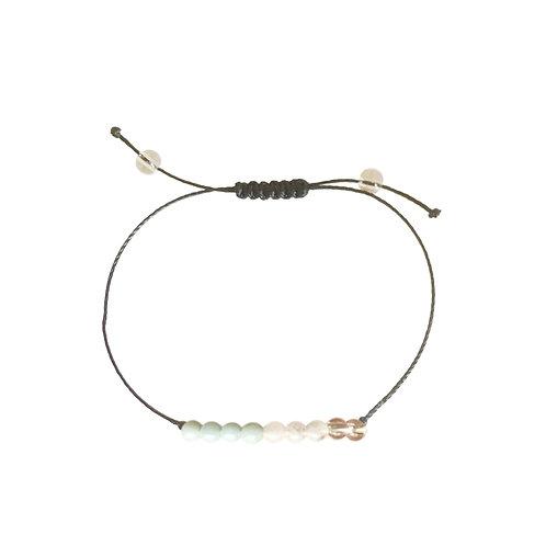 Uplifting: Amazonite, Crystal Quartz & Moonstone:  Choice of Anklet or Bracelet