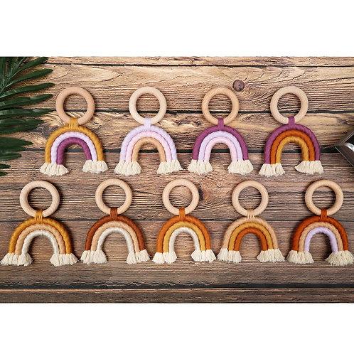Rainbow  Organic Wooden Teether