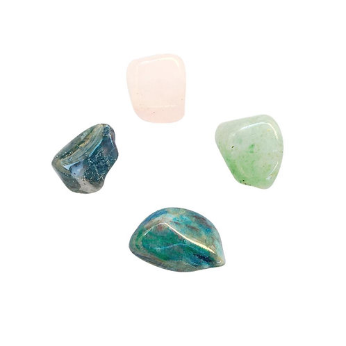 Healing the Heart * Aventurine, Rose Quartz, Moss Agate & Chrysocolla
