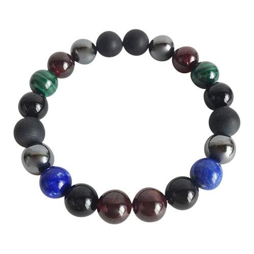 Business Boost  Black Onyx, Garnet, Hematite, Lapis Lazuli & Malachite Bracelet