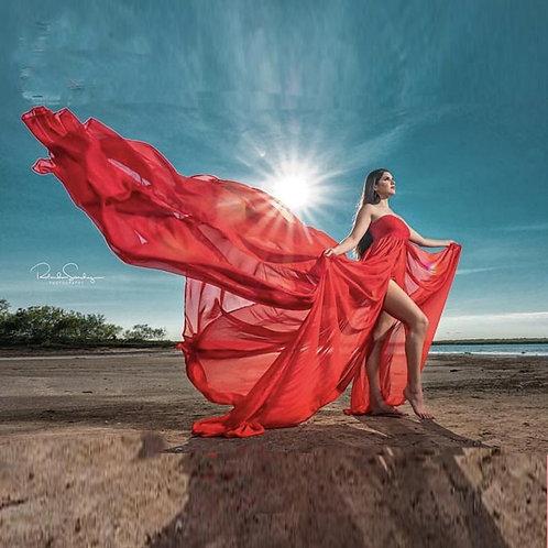 Lace Chiffon Gorgeous flowing Maternity dress