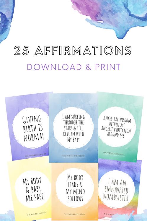 25 Printable Birth Affirmations