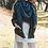 Thumbnail: Warm Open Weave Navy Blue Blanket Scarf