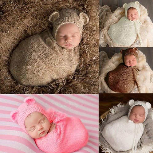 Newborn Photography Wrap & Hat