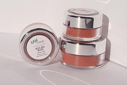 Natural Blush   Brick Red   Raw Beauty Minerals