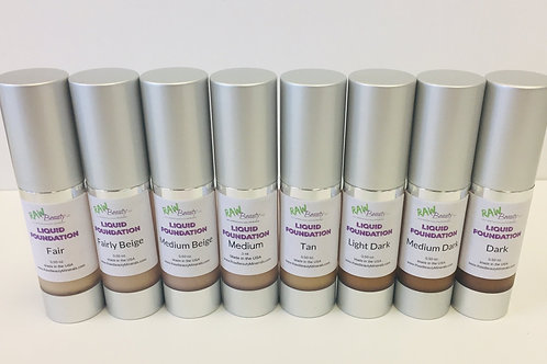 Organic Liquid Foundation   Raw Beauty Minerals   Vegan BB Cream