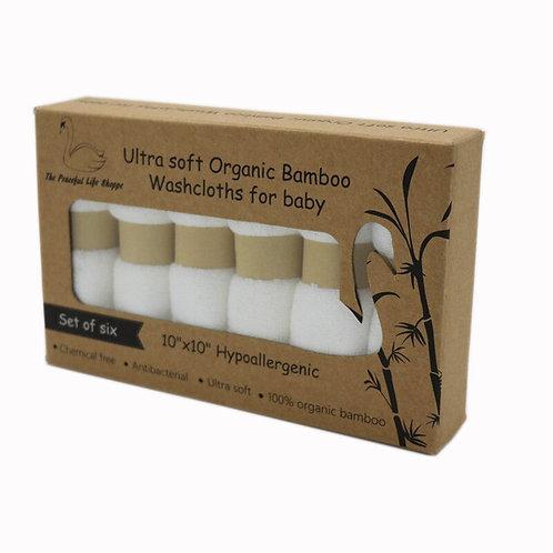 100% Organic Premium Bamboo Baby Washcloths